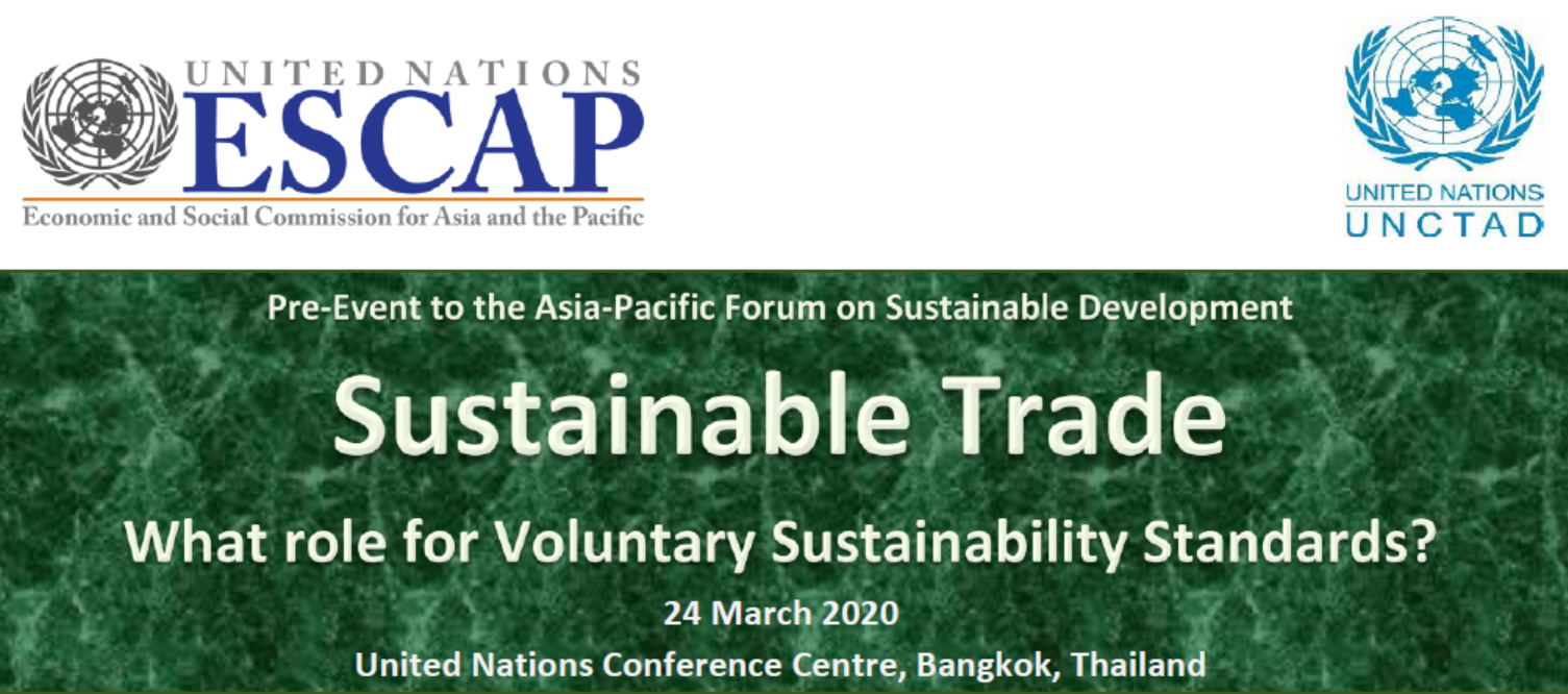 Role for VSS on Sustainable Trade,  APFSD pre-event in Thailand